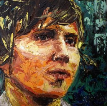 Title: Kevin Mitchell Palette Knife, Subject: Kevin Mitchell, Artist: Jodie Wells