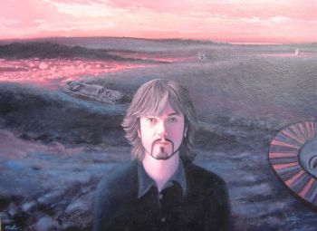 Title: Steve Kilbey Musician/Writer, Subject: Steve Kilbey, Artist: Alan Muller