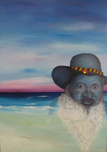 Title: Reflections, Subject: Patrick Dodson, Artist: Denise Walker