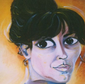 Title: Finding my Place on the Canvas, Subject: Self Portrait, Artist: Patrizia Terranova