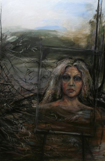 Title: Reflection - Self Portrait in a Quiet Place, Subject: Self Portrait, Artist: Robin Dale