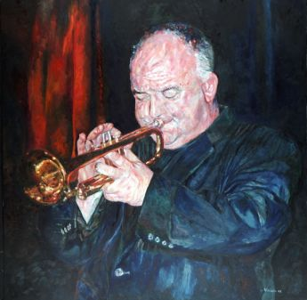 Title: On the Road Again, Subject: James Morrison, Artist: Vivian Falk