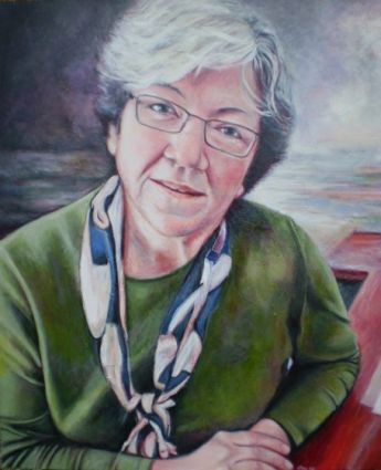 Title: Portrait of Dr Carmen Lawrence, Subject: Dr Carmen Lawrence, Artist: Deanne Haddow