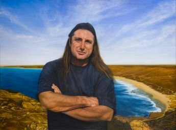 Title: Tim Winton Camp of the Moon, Subject: Tim Winton, Artist: Michael Legge Wilkinson