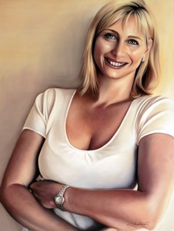 Title: Ray of Sunshine, Subject: Johanna Griggs, Artist: Kathrin Longhurst
