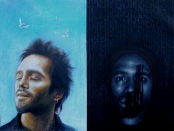 Title: Damian (Not Benji), Subject: Damian Walshe Howling, Artist: Tonje Moe Pettersen