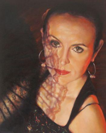 Title: Spanish Fan, Subject: Emma Bladen, Artist: Penelope Bladen