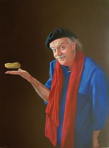 Title: Ian Pomme de Terre (of Magritte River), Subject: Ian Parmenter, Artist: Brendon Darby
