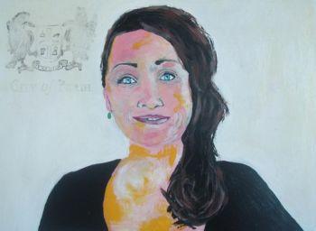 Title: Portrait of Claire Davies, Subject: Claire Davies, Artist: Edwina Davies
