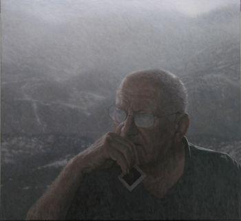 Title: Transience - a portrait of Richard Woldendorp; Subject: Richard Woldendorp; Artist: Nigel Hewitt