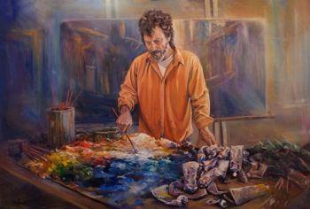 Title: Bakers Palette, Subject: Greg Baker, Artist: Leon Holmes