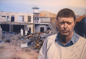 Title: Tragedy in Paradise, Subject: Dr Clive Cooke, Artist: Alastair Hope