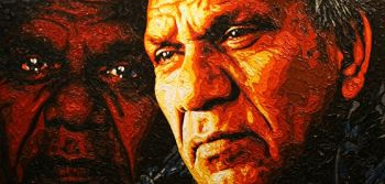 Title: Mick Mundine, Subject: Mick Mundine, Artist: Lucy Keeler