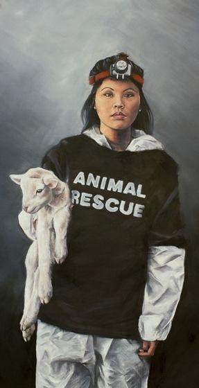 Title: Free Wooly, Subject: Jamie Yew, Artist: Elise Martinson