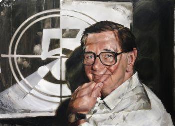 Title: Mr Movies Bill Collins; Subject: Bill Collins; Artist: Evert Ploeg