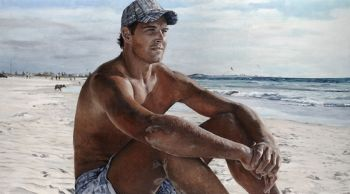 Title: Aaron at Leighton, Subject: Aaron Sandilands, Artist: Megan Roodenrys