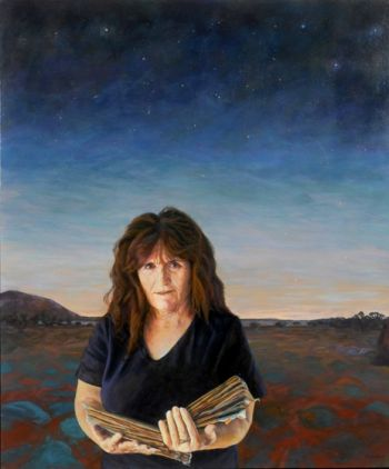 Title: The Gatherer, Subject: Nalda Searles, Artist: Linda van der Merwe