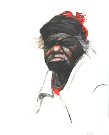 Title: Mrs Bennett, Subject: Nyurapayia Nampitjinpa, Artist: Brendon Darby