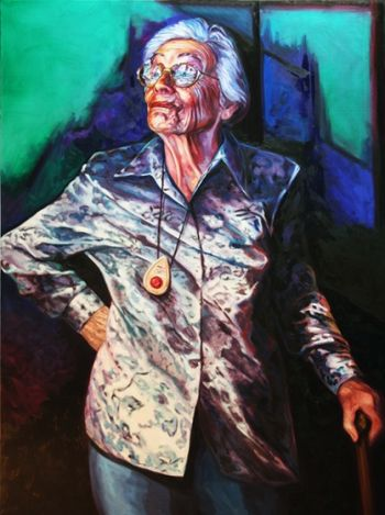 Title: The great Dame, Subject: Dame Beryl beaurepaire, Artist: Janne Kearney