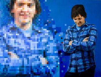 Title: Two Takes of Chris, Subject: Chris Lilley, Artist: Nathaniel Kiwi