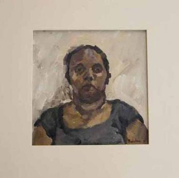 Title: Sonyas Cousin Kim, Subject: Kim Edney (Yamarrji Heritage), Artist: Joanna Robertson