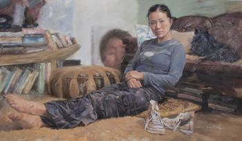 Title: Rare Repose, Subject: Poh Ling Yeow, Artist: Barry McCann