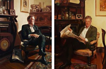 Title: Mr Andrew Rule (Diptych), Subject: Andrew Rule, Artists: Dagmar Cyrulla & Yvette Coppersmith