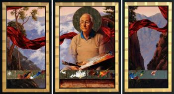 Title: Leonard Long (OAM) (Patron Saint of Landscape Artists), Subject: Leonard Long, Artist: Kim Nelson