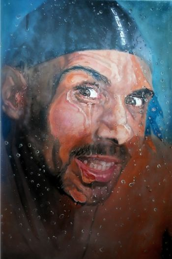 Title: Paul Fenech - Behind Steamy Glass, Subject: Paul Fenech, Artist: Mertim Gokalp