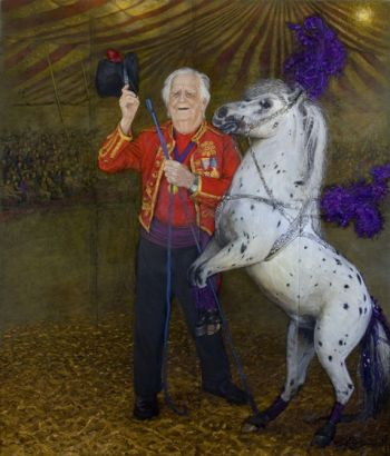 Title: Doug Ashton Mr Australian Circus, Subject: Doug Ashton AO, Artist: Peter Kendall
