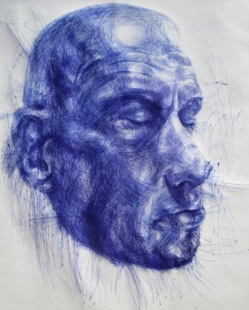 Title: A Fierce Silence, Subject: Harald H-Bomb Olsen, Artist: Andy Quilty