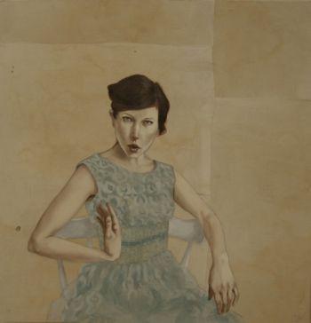 Title: Blood, Sweat, Tears and Drivel, Subject: Self Portrait, Artist: Belinda Wiltshire