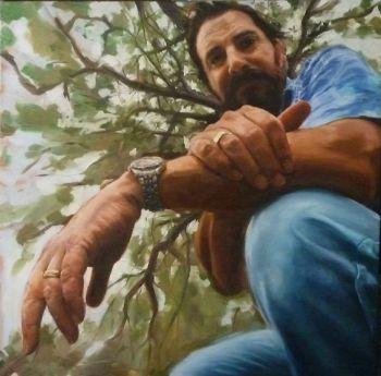 Title: Danny, Subject: Daniel Della Bosca, Artist: Chris Martin