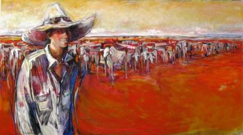Title: Jess, Pilbara Girl, Subject: Jess Currie, Artist: Christine Hingston