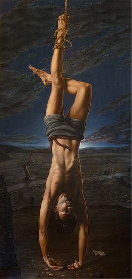 Title: The Hanged Man, Subject: Joe McKee, Artist: Daevid Anderson