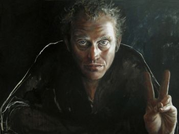 Title: Versus Safran, Subject: John Safran, Artist: Esther Erlich