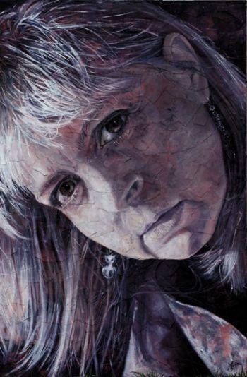 Title: Layers. Subject: Self Portrait, Artist: Jacqui Grantford