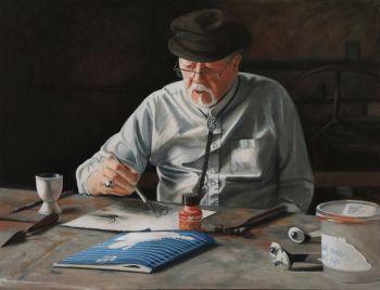 Title: Robert Juniper - Through the Looking Glass, Subject: Robert Juniper, Artist: Kirsten Sivyer