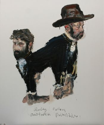 Title: Quilty Cullen. Australian Primitive, Subject: Ben Quilty, Adam Cullen, Artist: Paul Ryan