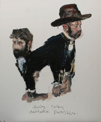 Title: Quilty Cullen. Australian Primitive, Subject: Ben Quilty, Adam Cullen, Artist: Paul Ryan