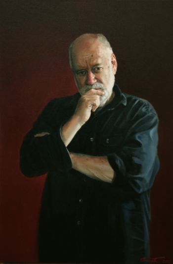 Title: Portrait of Phillip Adams, Subject: Phillip Adams, Artist: Peter Smeeth