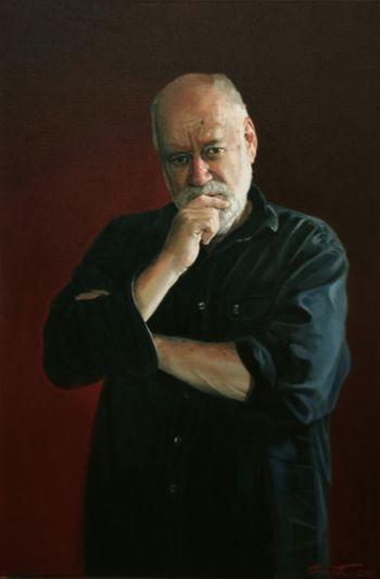 Title: Portrait of Phillip Adams, Subject: Phillip Adams, Artist: Peter Smeeth