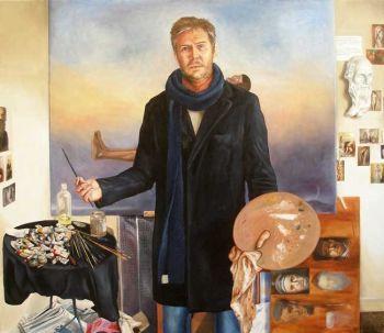 Title: Peter being Odd, Artist: Ben Sherar, Subject: Peter Barker