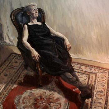 Title: Tarragh Reclining, Artist: Keith Burt, Subject: Tarragh Cunningham