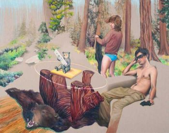 Title: Bear Bear, Artist: Kevin Chin, Subject: Self-portrait with partner, Clinton Milroy