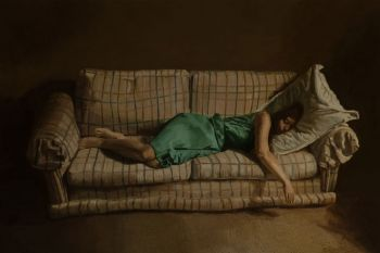 Title: Christine, asleep, Artist: William Creagh, Subject: Christine Melisande Baker