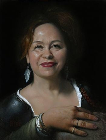 Title: Portrait of Carol, Artist: Neil Moore, Subject: Carol Searle