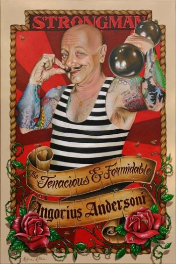 Title: The Tenacious and Formidable Angorius Andersoni, Artist: Melissa Ritchie, Subject: Angry Anderson