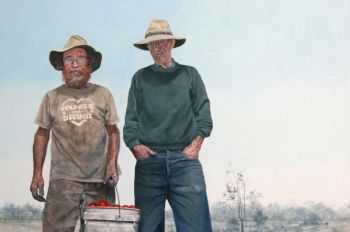 Title: Australian Gothic, Artist: Dawn Stubbs, Subjects: Neil Barraclough and John Weigard