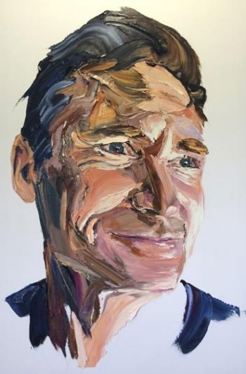 Title: Hughesy Study, Artist: Anh Do, Subject: Dave Hughes